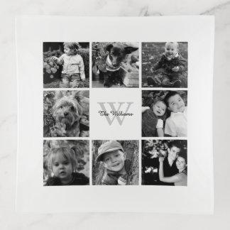 家族写真のコラージュ トリンケットトレー