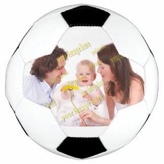 家族写真の容易な予算のテンプレート サッカーボール