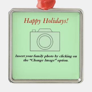 家族写真 メタルオーナメント