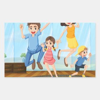家族写真 長方形シール