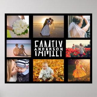 家族8の写真のコラージュDIYのテンプレート|は一流V2を加えます ポスター