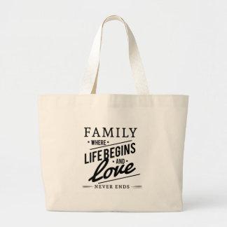 家族 ラージトートバッグ