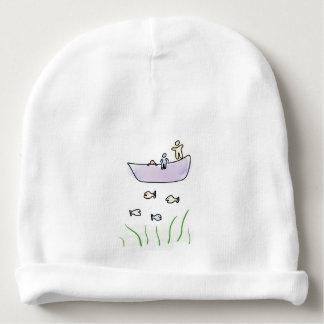 家族-漫画の魚釣りの帽子との採取 ベビービーニー