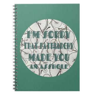 家父長制のノートのために残念 ノートブック
