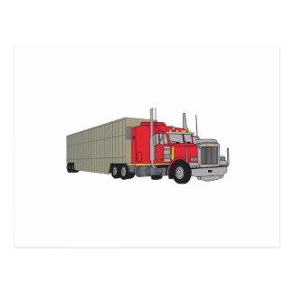 家畜はトラックで運びます ポストカード