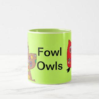 家禽のフクロウ ツートーンマグカップ