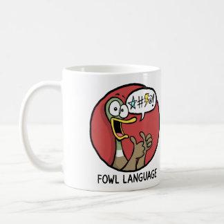 家禽の言語マグ(両面) コーヒーマグカップ