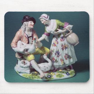 家禽の販売人のMeissenの姿、c.1750 マウスパッド