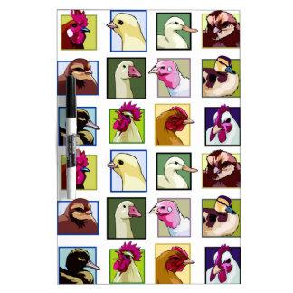 家禽の鳥: 家禽(鶏、アヒル、ガチョウ、七面鳥) ホワイトボード