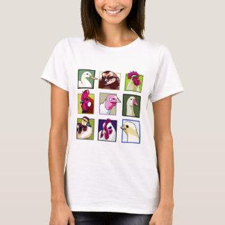 家禽の鳥: 家禽(鶏、アヒル、ガチョウ、七面鳥) Tシャツ