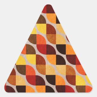 家系 三角形シール