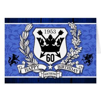 家紋の第60誕生日カード紋章付き外衣 カード