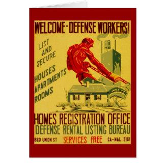 家防衛労働者WWII カード