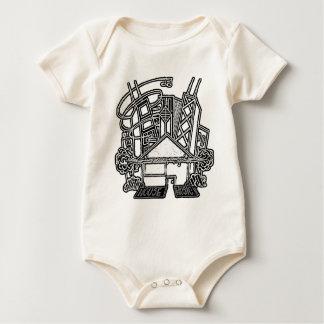 家音楽ベビーのTシャツ ベビーボディスーツ