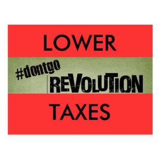 家、より低いdontgomovement税 ポストカード