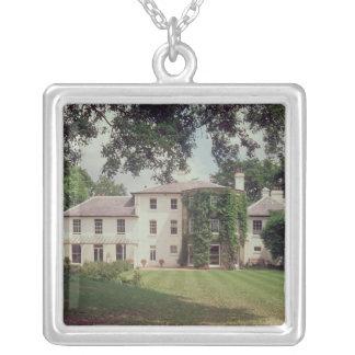 家、チャールズ・ダーウィンの家 シルバープレートネックレス