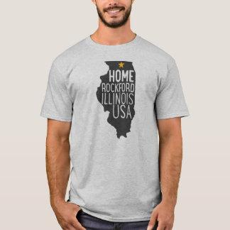 家: ロックフォードイリノイ米国 Tシャツ