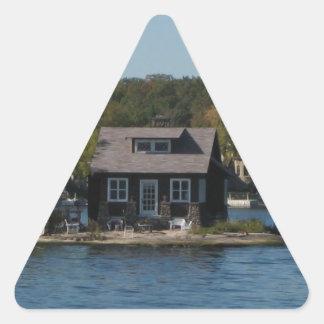 家 三角形シール