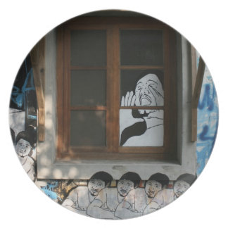 家、台北、台湾の壁画 プレート