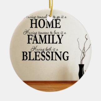 家 + 家族=天恵 セラミックオーナメント