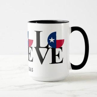 、家、愛オースティンテキサス州のコーヒー・マグ15oz生まれて下さい マグカップ
