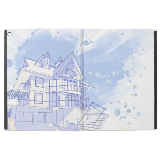 家: 水彩画の引くこと