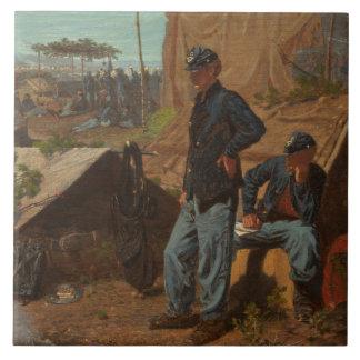 家、甘い家、c.1863 (キャンバスの油) タイル