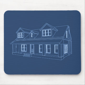 家: 青写真のスケッチ: マウスパッド