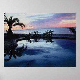家Blancaの海辺の別荘の日の出 ポスター