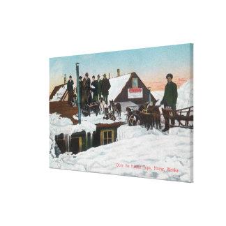 家TopsNome、AK上の雪 キャンバスプリント