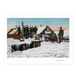 家TopsNome、AK上の雪 ポストカード