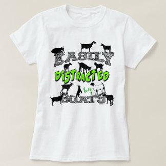 容易にヤギによって混乱させるヤギのユーモア|のかわいい Tシャツ