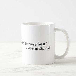 容易に満たされたChurchillのコーヒーカップ コーヒーマグカップ