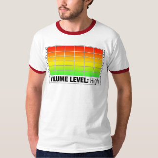 容積の水平な最高 Tシャツ