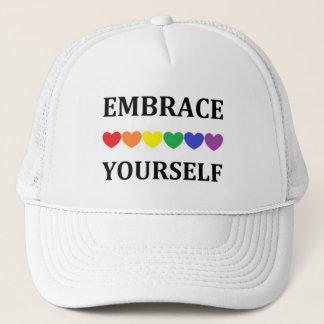容認のYouselfの虹のハートの帽子 キャップ