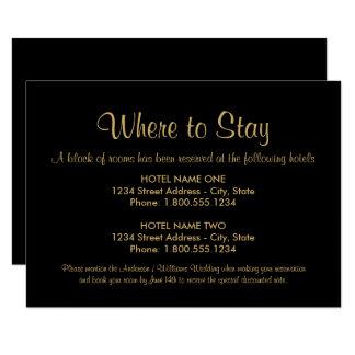 宿泊施設カード|カスタム色 8.9 X 12.7 インビテーションカード