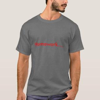 宿題..... Tシャツ