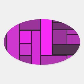 寄木細工の床のデザイン 卵形シールステッカー