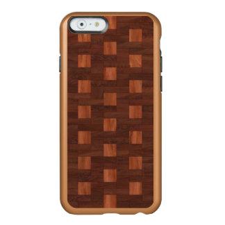 寄木細工の床の斜子織のiPhone 6/6のIncipioの輝やきの場合 Incipio Feather Shine iPhone 6ケース