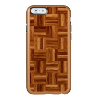 寄木細工の床のiPhone 6/6S Incipioの輝やきの場合 Incipio Feather Shine iPhone 6ケース