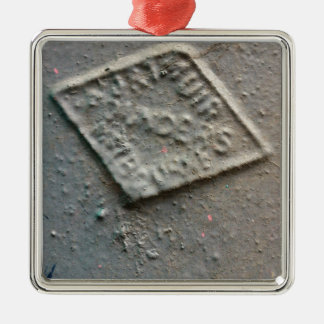 密封される -- 旧式な金属メーカーのシール メタルオーナメント