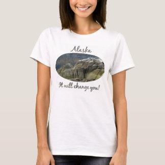 密輸業者の入江の海岸線; アラスカの記念品 Tシャツ