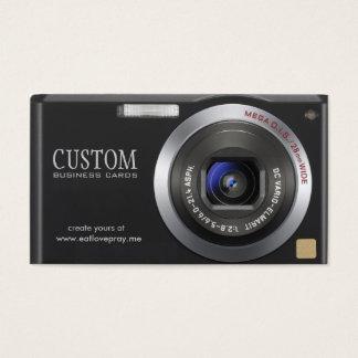 密集したデジタルカメラのカメラマンの名刺 名刺