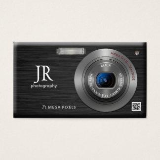 密集したデジタルカメラのプロフェッショナルのカメラマン 名刺