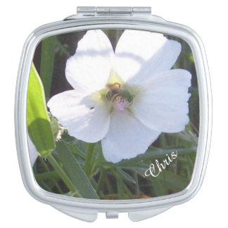 密集した鏡の花柄