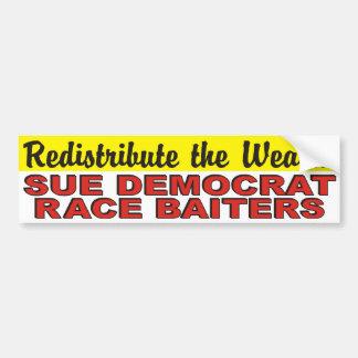 富のスー民主党員の競争Baitersを再分配して下さい バンパーステッカー