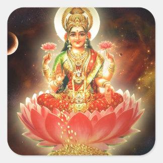 富のMaa Maha Lakshmi Devi Laxmiの女神 スクエアシール