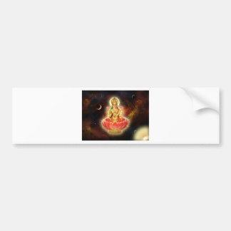 富のMaa Maha Lakshmi Devi Laxmiの女神 バンパーステッカー