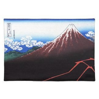 富士山のクラシックな日本人のプリントのLighning ランチョンマット