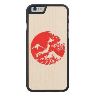 富士山のレトロの箱。 赤い日本人のプリント ケース